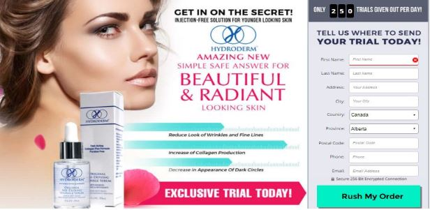 Hydroderm Skin Serum Canada Where to Buy Trial