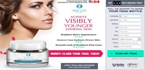 New Life Skin Revitalizing Moisturizer with New Life Skin Ageless Eye Revitalizer USA CA Trial Combo