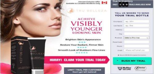 Tru Belleza Cream & Eye Serum Canada Where To Buy