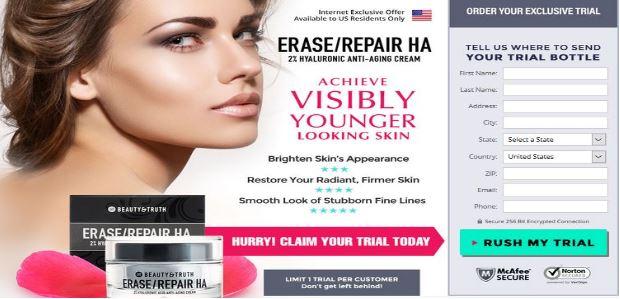 Beauty & Truth Erase/Repair HA with Renewing Serum CE