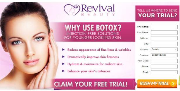 Revival Beauty Eye Serum Canada & Revival Beauty Cream