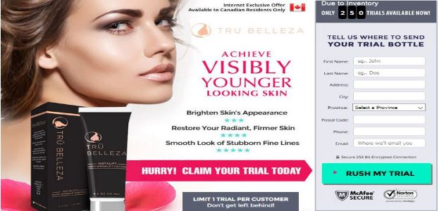 Tru Belleza Cream & Eye Serum Canada Where To Buy
